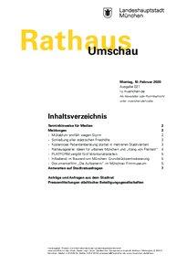 Rathaus Umschau 27 / 2020