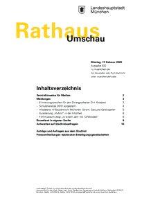 Rathaus Umschau 32 / 2020
