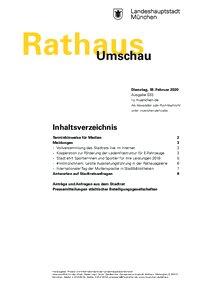 Rathaus Umschau 33 / 2020