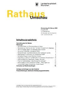 Rathaus Umschau 35 / 2020