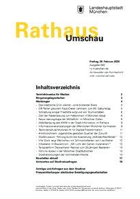 Rathaus Umschau 40 / 2020