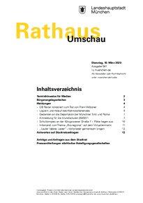 Rathaus Umschau 47 / 2020