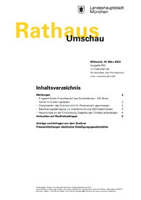 Rathaus Umschau 53 / 2020
