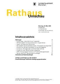 Rathaus Umschau 57 / 2020
