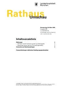 Rathaus Umschau 59 / 2020