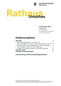 Rathaus Umschau 60 / 2020