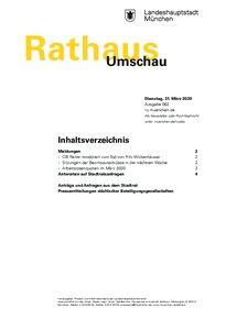 Rathaus Umschau 62 / 2020
