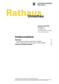 Rathaus Umschau 67 / 2020
