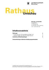 Rathaus Umschau 70 / 2020