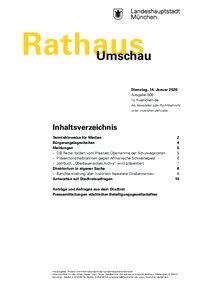 Rathaus Umschau 8 / 2020