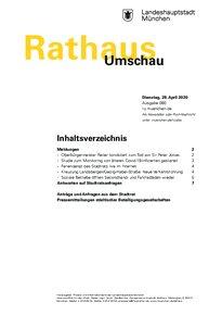 Rathaus Umschau 80 / 2020