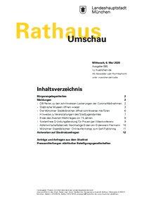 Rathaus Umschau 85 / 2020