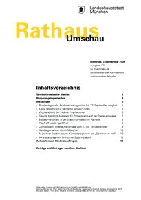 Rathaus Umschau 171 / 2021